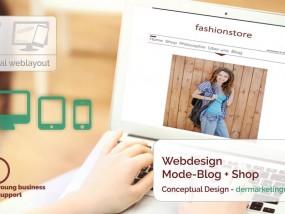 Responsive Webdesign - Modeblog mit Shopanbindung